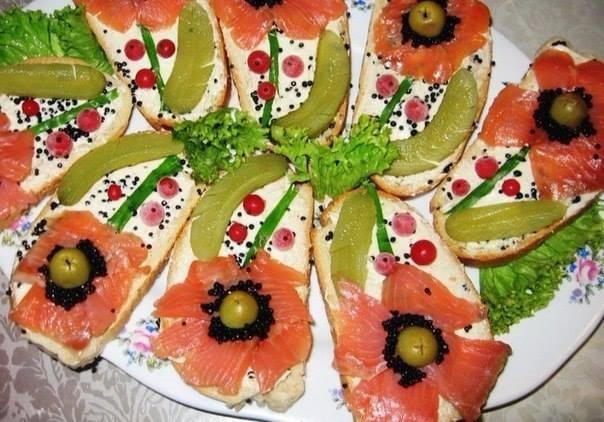 Бутерброды на праздничный стол рецепт пошаговый